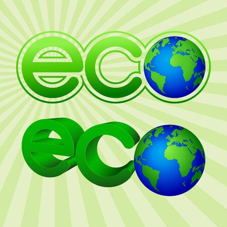 Abstract eco emblem. Vector