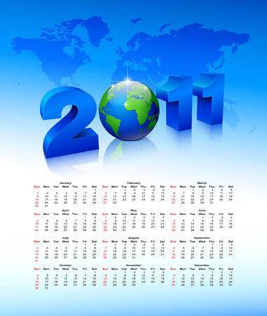 Calendar on a blue background  Vector