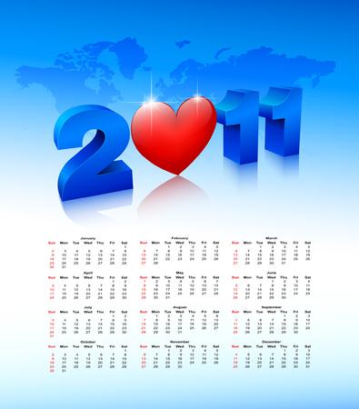 Calendar on a blue background.   Vector