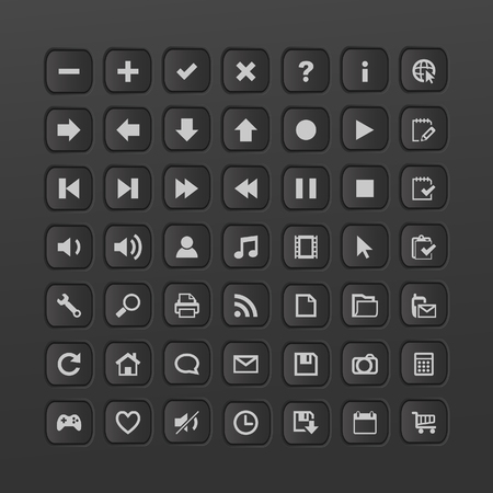 iluminacion led: Botones de Web. ilustraci�n.