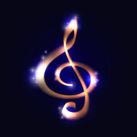 Treble clef. illustration.   Vector