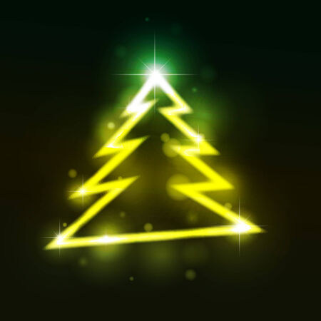 emitter: Christmas fur-tree.  illustration.  Illustration