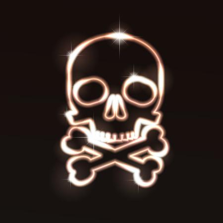 Skull.  illustration. Stock Vector - 8248992