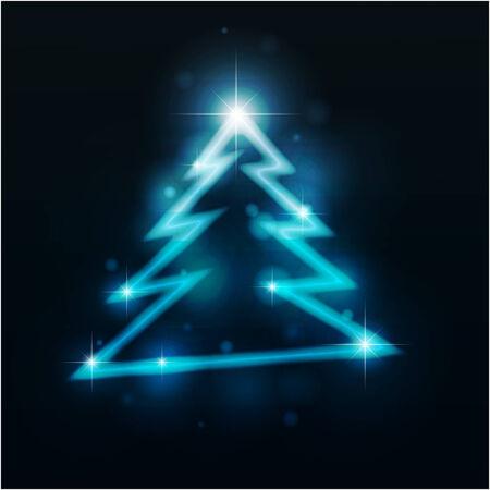 emitter: Christmas fur-tree.   illustration.