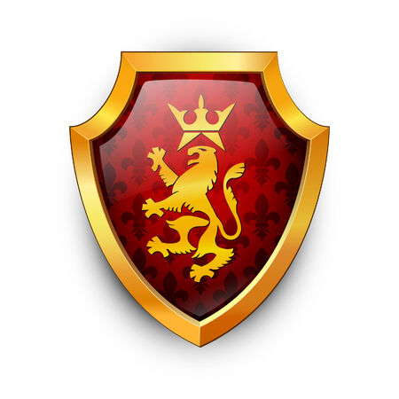 Shield on a white background.  Vector