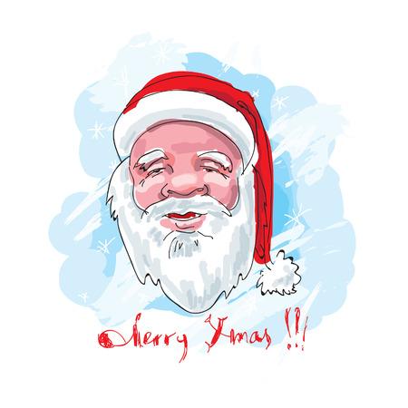 Santa. Hand drawn. Stock Vector - 8369811