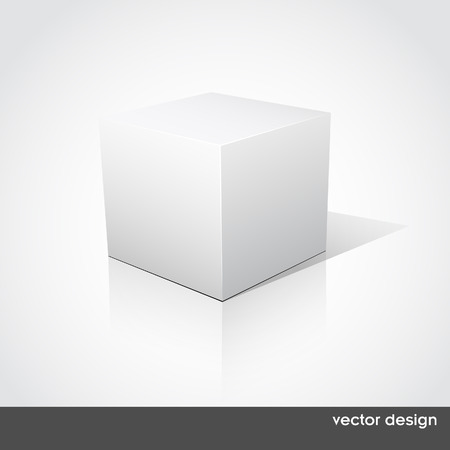 product box: Cube on a white background.