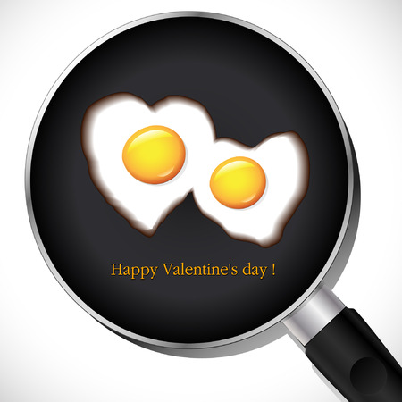 Fried Egg.Valentine's day Stock Vector - 8507612