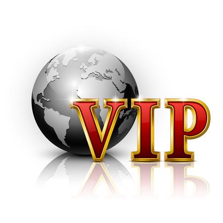 letras doradas: Cartas de VIP Oro. Ilustraci�n vectorial.