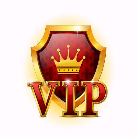 Shield on a white background. VIP
