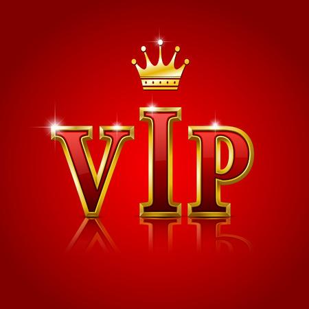 VIP gold letters  illustration.