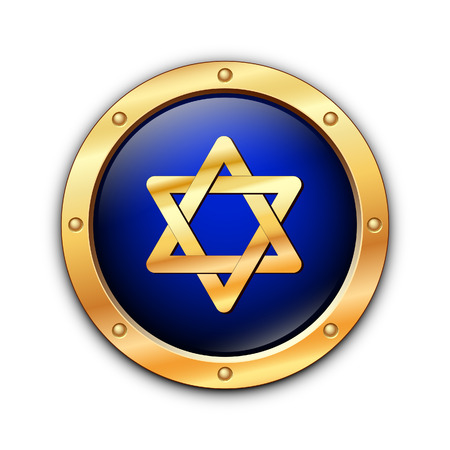 Shield of David on a white background.  Stock Vector - 8619699