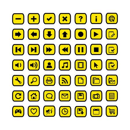 iluminacion led: Icono de conjunto de botones de la web. Eps8 Vectores
