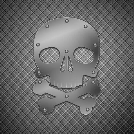 metallic skull  Stock Vector - 8766718