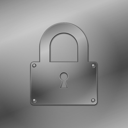 Metallic lock  Stock Vector - 8766719