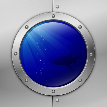porthole. shark