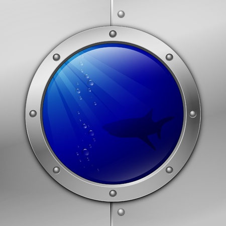 ventana ojo de buey: Portilla. tibur�n
