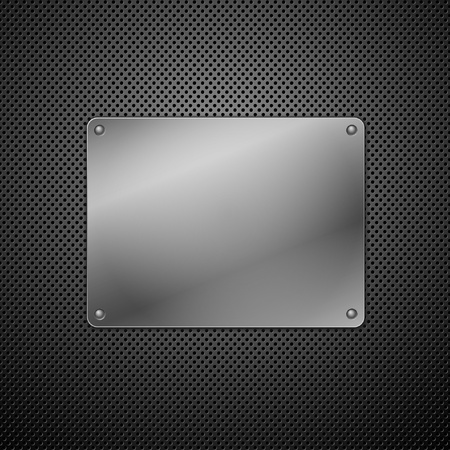 brushed metal: Metallic plaque for signage