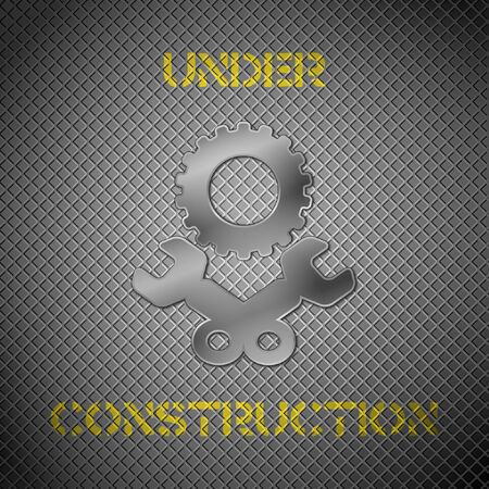 Under construction background.  Vector
