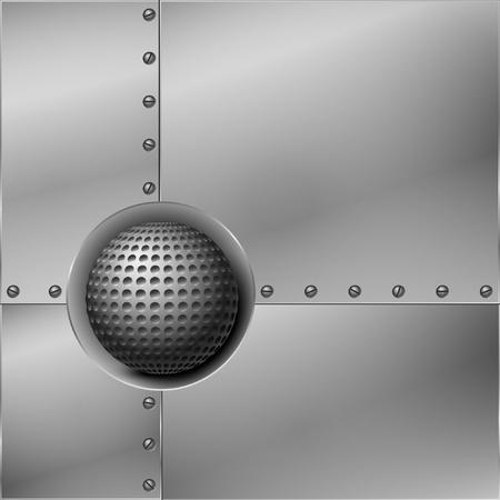 dark fiber: Abstract metal background. Vector illustration. Illustration