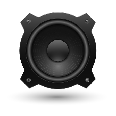 speaker box: Icono del altavoz. Ilustraci�n vectorial. Vectores