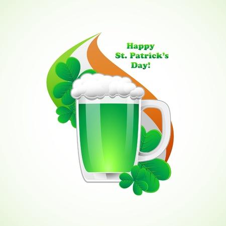 St. Patrick Day background.illustration. Vector