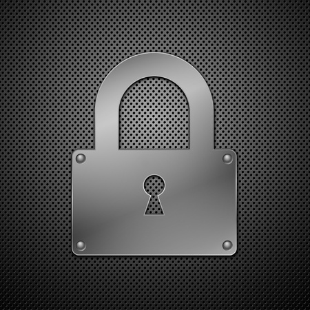 metallic lock. Vector illustration. Illustration