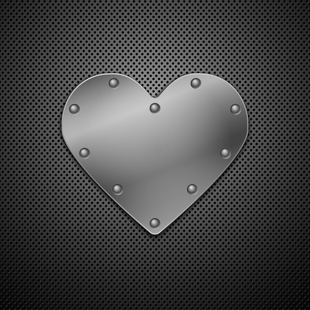 Metallic heart. Vector illustration. Eps10 Vector