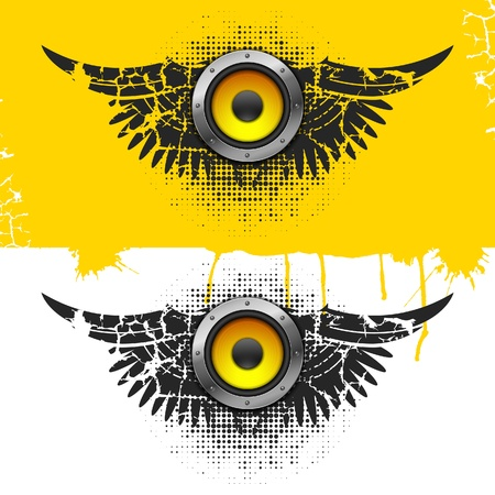 Party design element with speakers . Vector illustration Stock Vector - 9162120