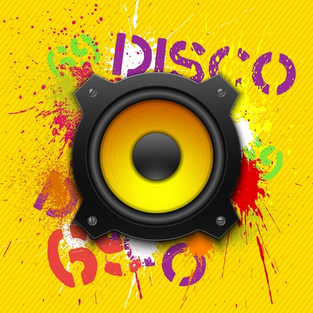 Party design element with speaker. Vector illustration Vector