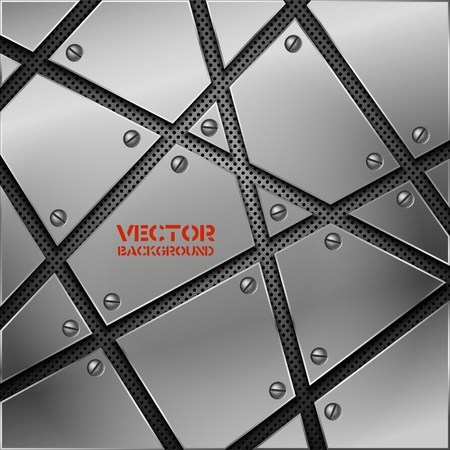 carbon steel: Abstract metal background. Vector illustration. Illustration