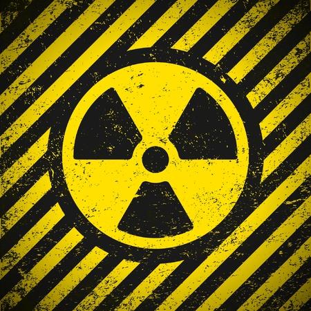 radiacion: Signo de radiaci�n. Ilustraci�n vectorial. Eps10