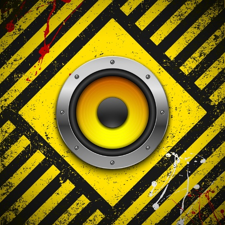 frankfurt: Party design element with speakers . Vector illustration