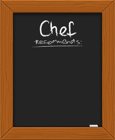chefs suggestion - classical blackboard with chalk
