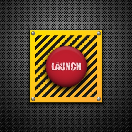 lancha: Launch button. Vector background. Eps10