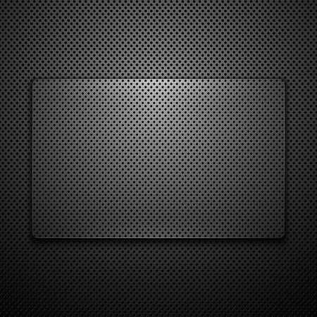 carbone: Abstract fond m�tallique. Illustration vectorielle.