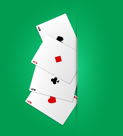 Poker ases. Vector illustration. Eps10 Vector