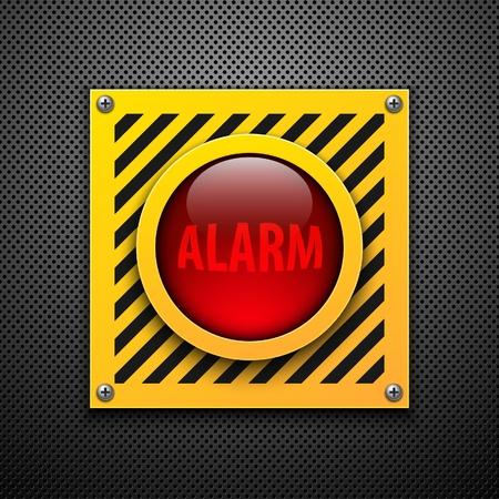 Alarm lamp. Realistische vectorillustratie. Eps10 Stock Illustratie