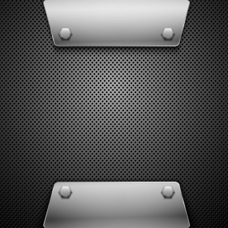 carbon fiber: Fondo abstracto de metal Vectores