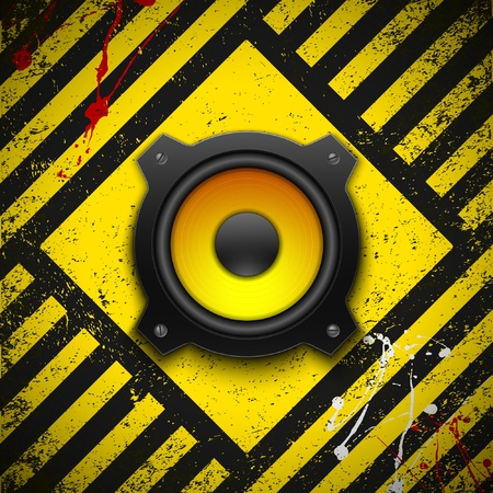Party design element with speaker Vector