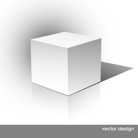 focus on shadow: Cube on a white background. Vector illustration
