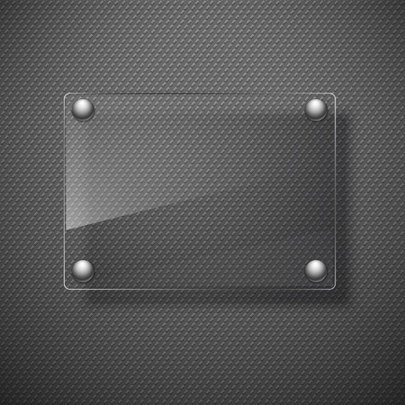 ガラス フレームワークと抽象的な金属の背景。ベクトル イラスト。