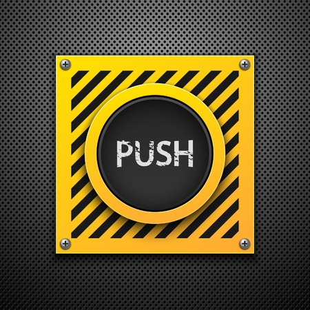 Push button. Vector illustration. Eps10 Vector