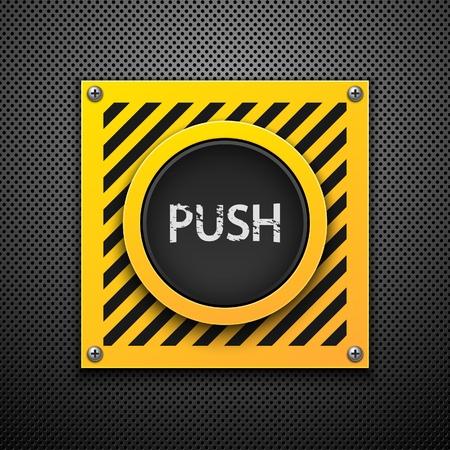 activation: Push button. Vector illustration. Eps10