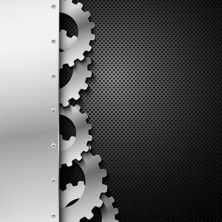 metal gears: Abstract metal background. Vector illustration. Illustration