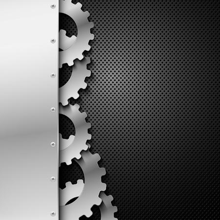 on metal: Fondo abstracto de metal. Ilustraci�n vectorial.