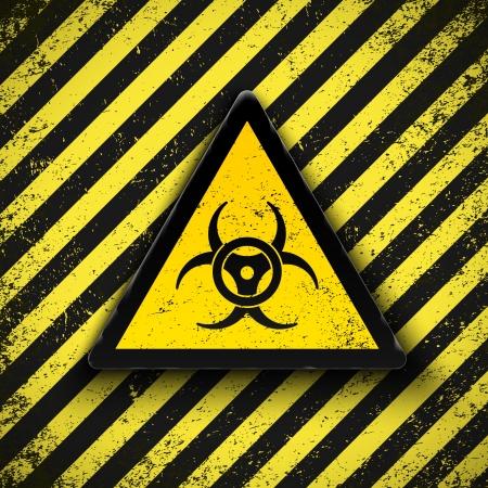 residuos toxicos: Signo de peligro biol�gico. Ilustraci�n vectorial.  Vectores