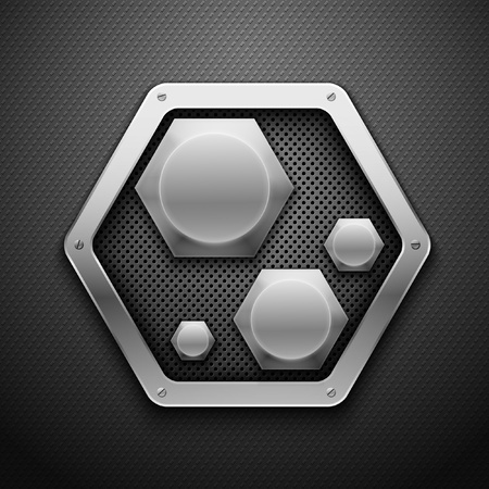 dark fiber: Abstract metal background illustration. Illustration