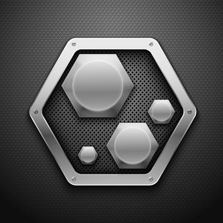 dark fiber: Abstracte metalen achtergrond illustratie.