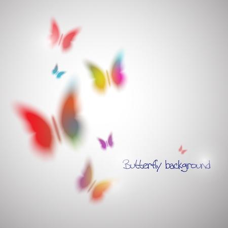 蝶と抽象的なベクトルの背景。Eps10
